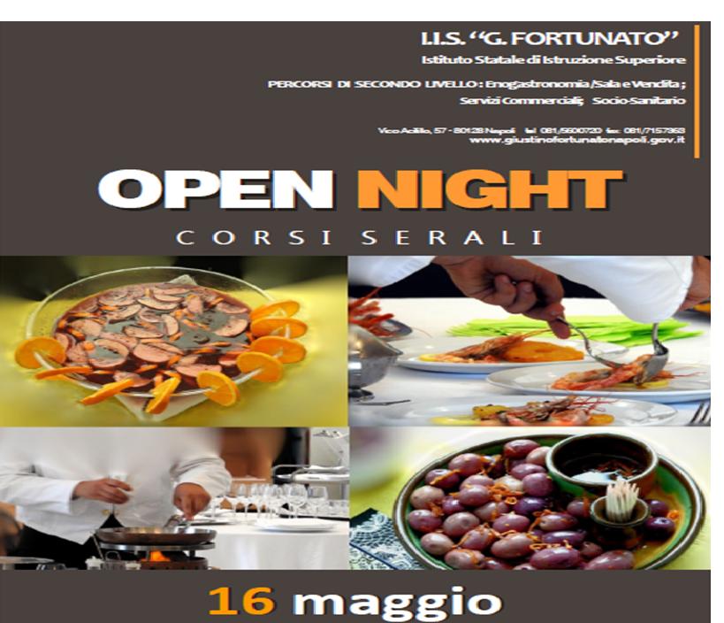 IIS G. FORTUNATO: INVITO OPEN NIGHT - 16 MAGGIO 2019