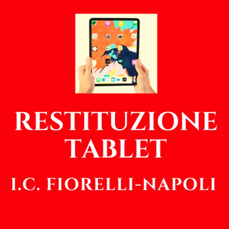 18/06/2021: SCADENZA RESTITUZIONE TABLET