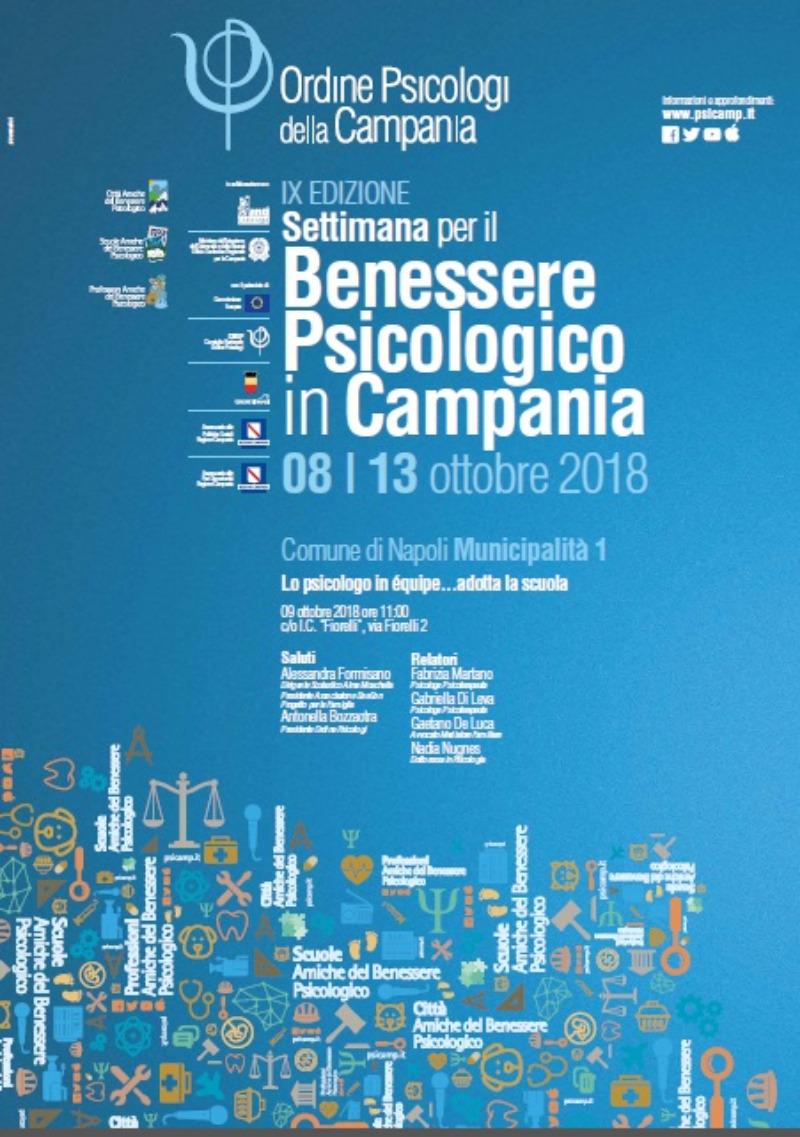 9 OTTOBRE: PROGRAMMA BESSERE PSICOLOGICO