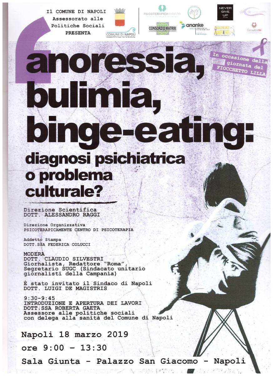ANORESSIA, BULIMIA, BINGE EATING