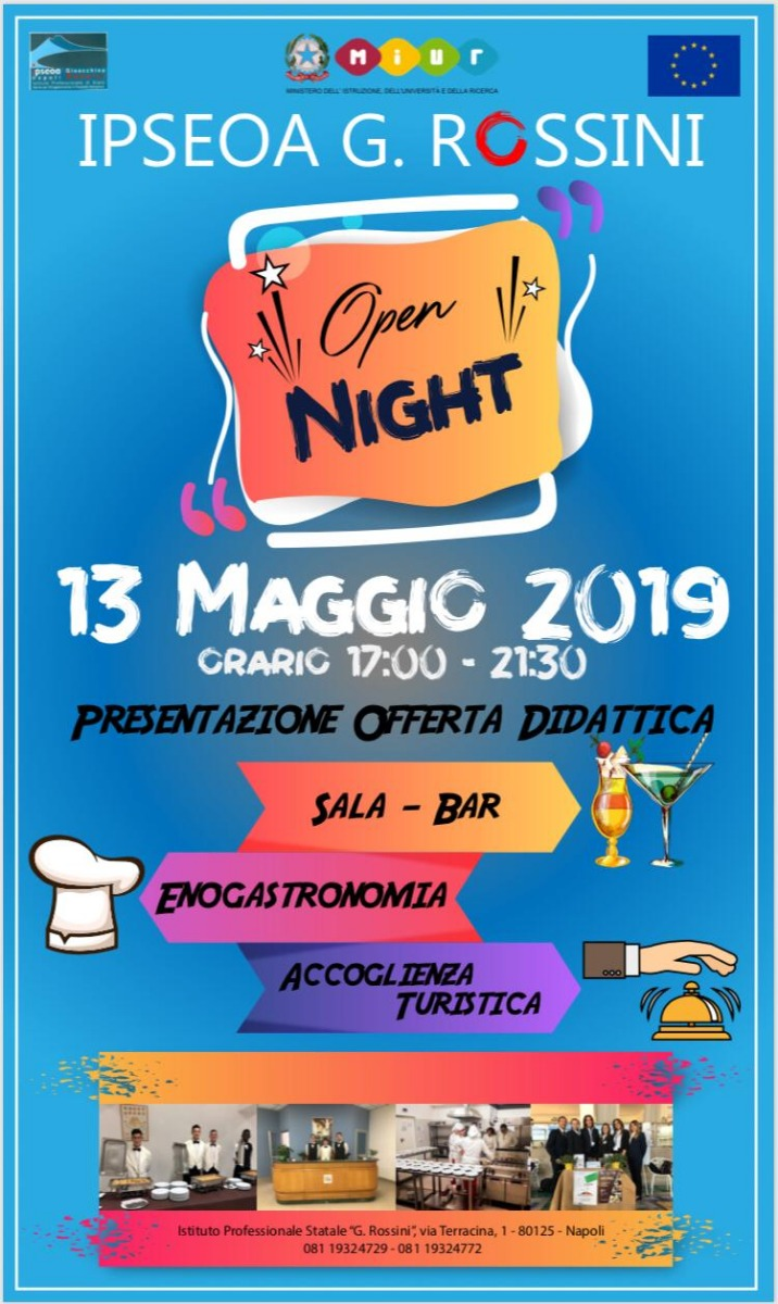 OPEN NIGHT 13 MAGGIO 2019